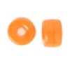 Glass Mini Crow Bead 6mm Transparent Orange